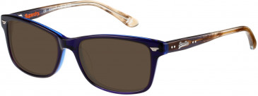 Superdry SDO-15000 Sunglasses in Gloss Blue/Grey