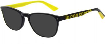 Le Coq Sportif LCS2019A-53 sunglasses in Black Yellow
