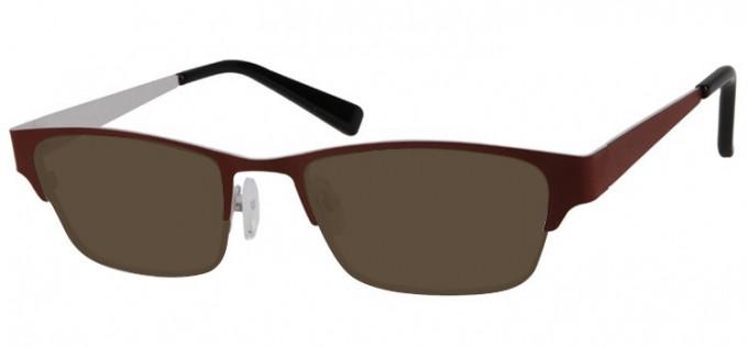Sunglasses in Brown/White