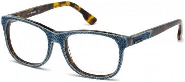 Diesel DL5124 Glasses in Denim/Tortoise
