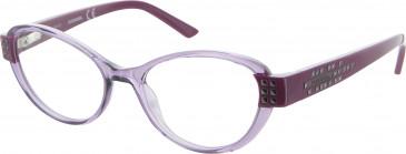 Diesel DL5011 glasses in Clear Purple