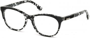 Diesel DL5155 glasses in Black/White
