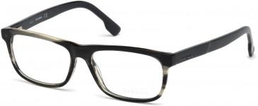 Diesel DL5212 glasses in Black/Grey