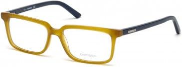 Diesel DL5067 glasses in Mustard/Blue