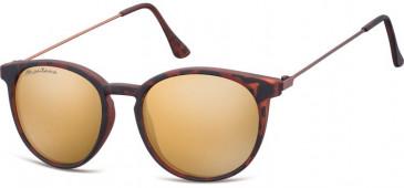 SFE-9889 Sunglasses in Black/Silver Mirror