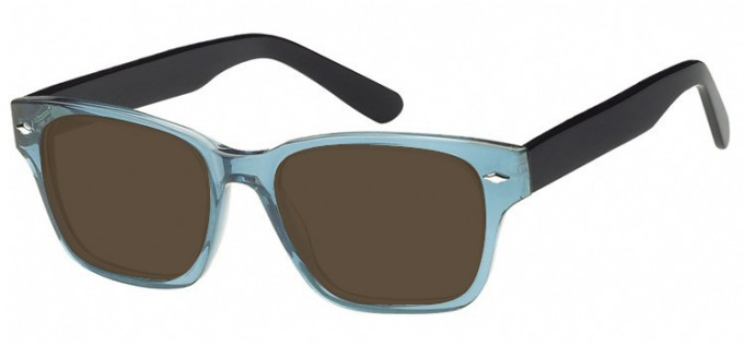 Sunglasses in Clear Turquoise/Black