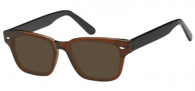 Sunglasses in Clear Brown/Black