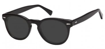 Sunglasses in Black/Clear Grey
