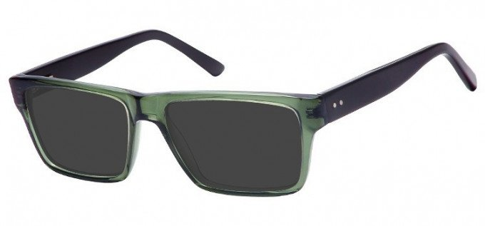 Sunglasses in Clear Green