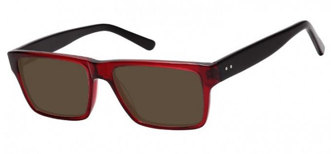 Sunglasses in Clear Burgundy