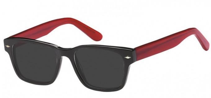 Sunglasses in Black/Red