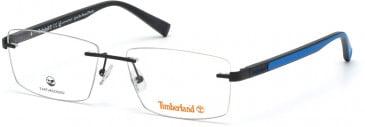 TIMBERLAND TB1657 glasses in Matte Black