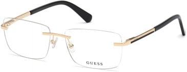 GUESS GU50022 glasses in Pale Gold