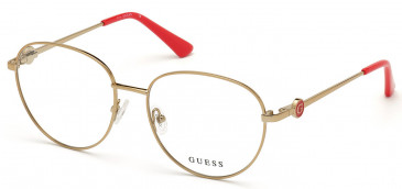 GUESS GU2756-55 glasses in Shiny Light Brown