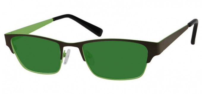 Sunglasses in Green/Light Green