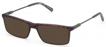 TIMBERLAND TB1675-53 sunglasses in Dark Havana