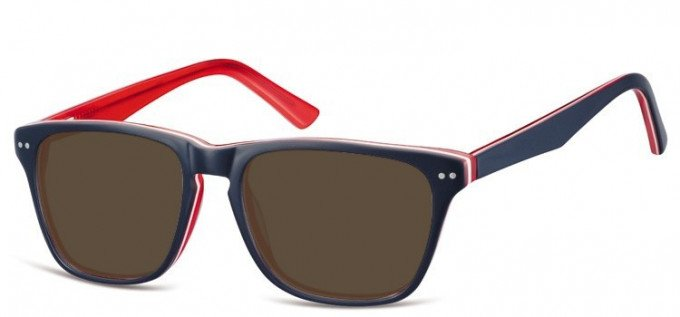 Sunglasses in Blue/Red