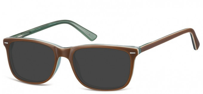 Sunglasses in Brown/Transparent Green