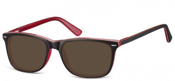 Sunglasses in Brown/Transparent Burgundy