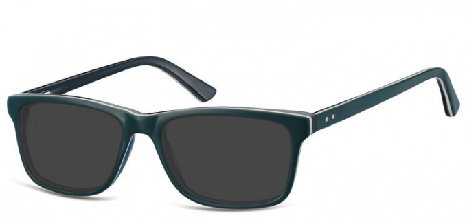 Sunglasses in Green/Transparent Blue