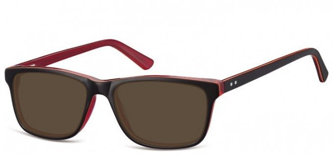Sunglasses in Brown/Transparent Red