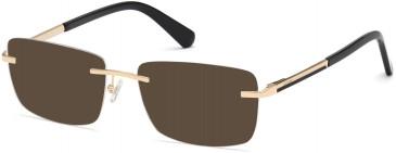 GUESS GU50022 sunglasses in Pale Gold