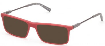 TIMBERLAND TB1675-55 sunglasses in Matte Red