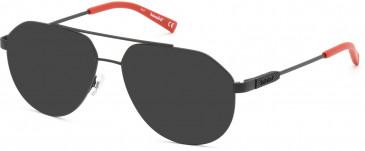 TIMBERLAND TB1668-58 sunglasses in Matte Black