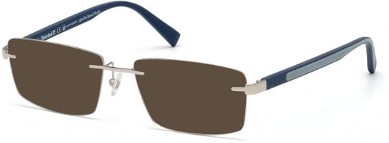 TIMBERLAND TB1657 sunglasses in Shiny Light Nickeltin