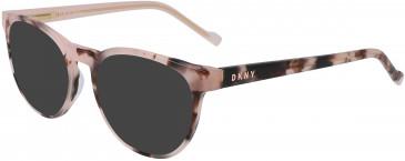 DKNY DK5000 sunglasses in Blush Tortoise