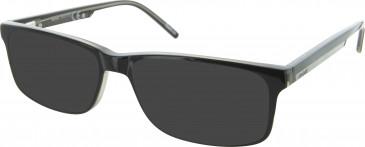 Reebok R6027 Sunglasses in Black/Clear