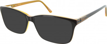 Reebok R3007 Sunglasses in Black/Orange
