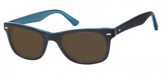 Sunglasses in Black/Turquoise