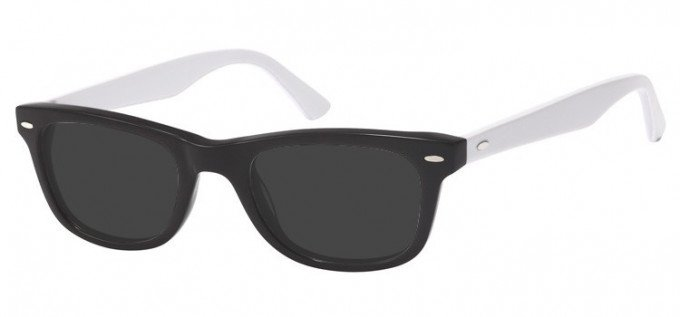 Sunglasses in Black/White