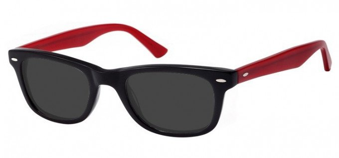 Sunglasses in Black/Burgundy