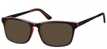 Sunglasses in Black/Red