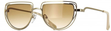 Chloé CE164S sunglasses in Gold Gradient Brown