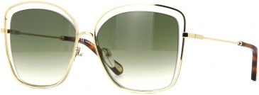 Chloé CE133S sunglasses in Gold Green Tint