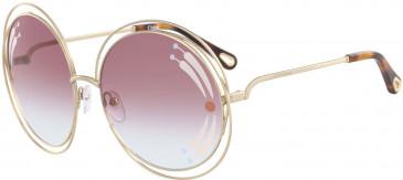 Chloé CE114SRI sunglasses in Gold Rose Tint