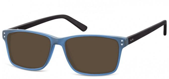 Sunglasses in Transparent Blue