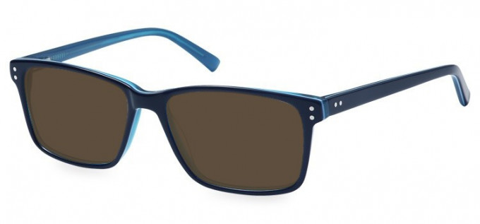 Sunglasses in Blue/Clear Blue