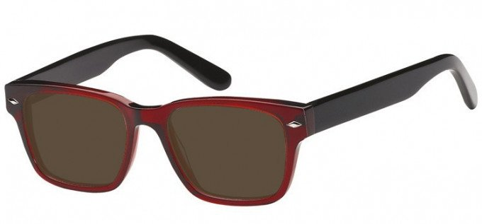 Sunglasses in Clear Red/Black