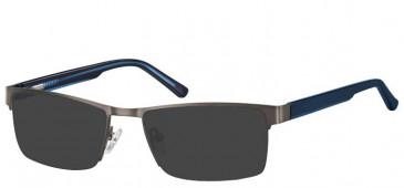 Sunglasses in Dark Gunmetal/Blue