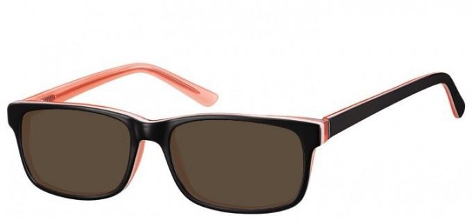 Sunglasses in Black/Peach