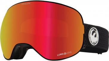 Dragon Snow Goggle DR X2 BONUS sunglasses in Black/Red