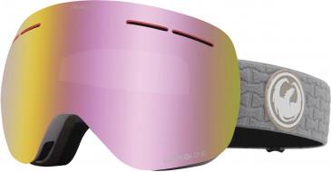 Dragon Snow Goggle DR X1S BONUS sunglasses in Grey/Pink