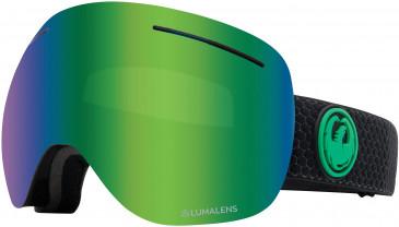 Dragon Snow Goggle DR X1 THREE sunglasses in Black/Green