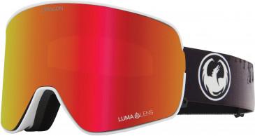 Dragon Snow Goggle DR NFX2 BONUS sunglasses in White/Red