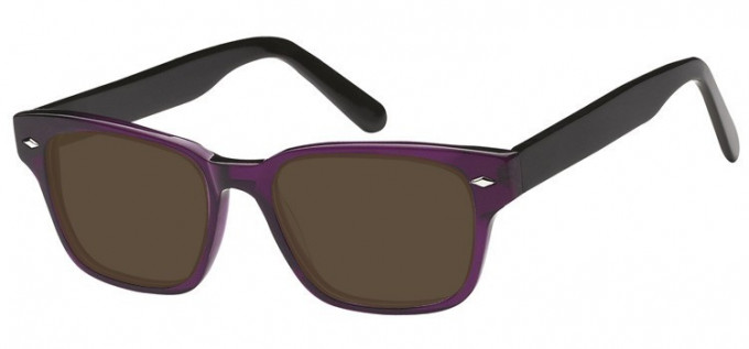 Sunglasses in Clear Purple/Black