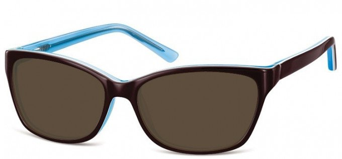 Sunglasses in Brown/Turquoise